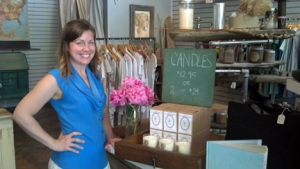 Brooke Deccio owner of Azalea with Pauper's Candles