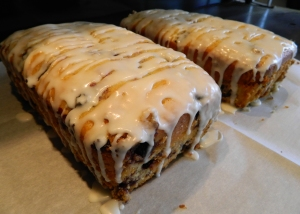 Lemon Blueberry Pound Cake Loaves