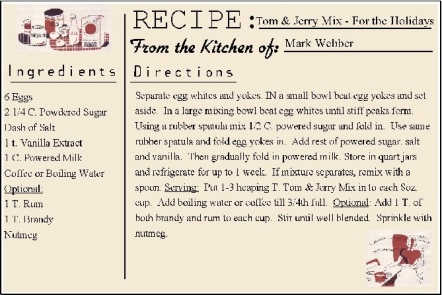 Tom and Jerry Recipe